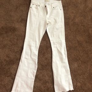 Free people white bell bottoms jeans